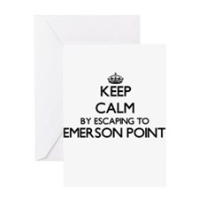 Keep calm by escaping to Emerson Po Greeting Cards