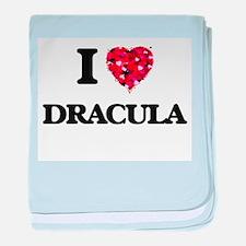 I love Dracula baby blanket