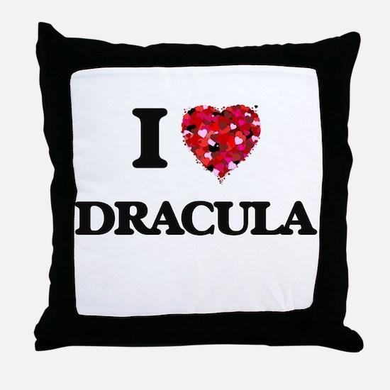 I love Dracula Throw Pillow