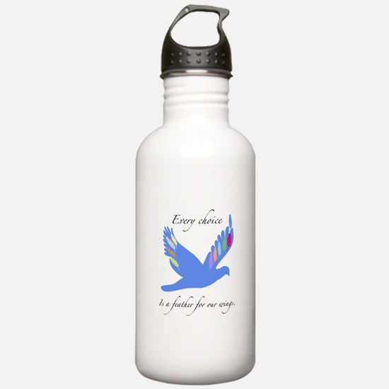 Feathers For Wings Gifts Water Bottle