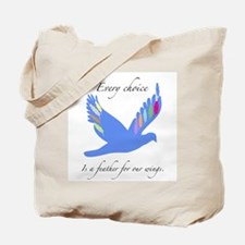 Feathers For Wings Gifts Tote Bag