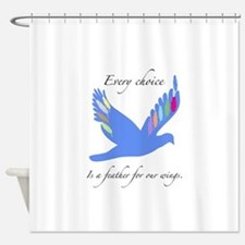 Feathers For Wings Gifts Shower Curtain