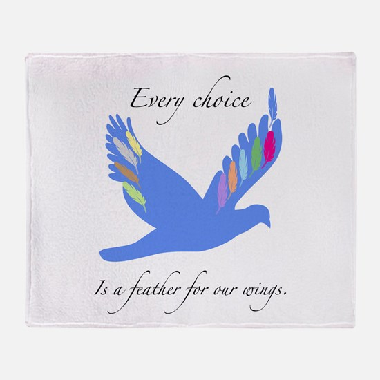 Feathers For Wings Gifts Throw Blanket