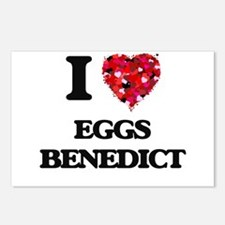 I love Eggs Benedict Postcards (Package of 8)