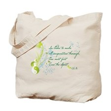 """Cure the Spirit"" Quote Tote Bag"