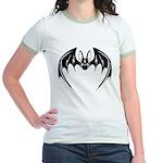 Decorative Bat Jr. Ringer T-Shirt