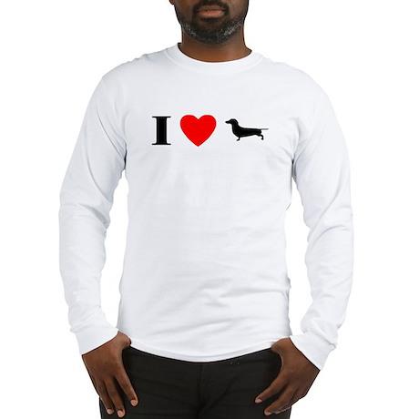 I Heart Dachshund Long Sleeve T-Shirt