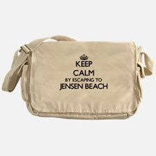 Keep calm by escaping to Jensen Beac Messenger Bag