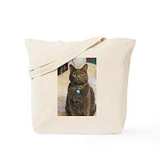 Cute Russian blue cat Tote Bag