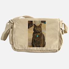 Cute Blue cat Messenger Bag