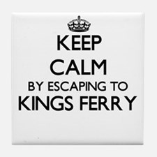 Keep calm by escaping to Kings Ferry Tile Coaster