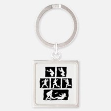 OUT! Square Keychain