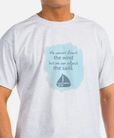 Nautical Sail boat Mentality Quote T-Shirt