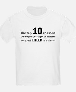 10 Reasons to Spay/Neuter T-Shirt