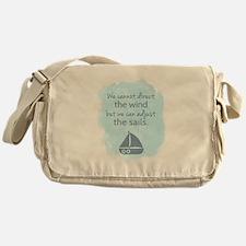 Nautical Sail boat Mentality Quote Messenger Bag