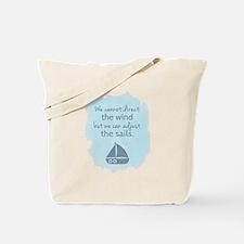 Nautical Sail boat Mentality Quote Tote Bag