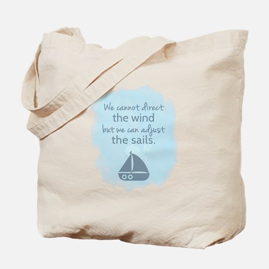 Nautical Sail boat Mentality Quote Tote Bag