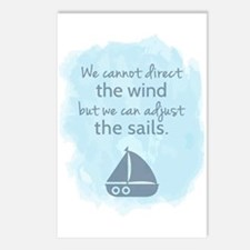 Nautical Sail boat Mentality Quote Postcards (Pack