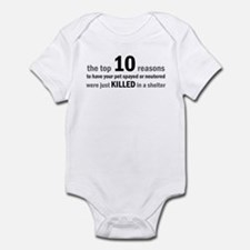 10 Reasons to Spay/Neuter Infant Bodysuit