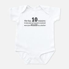 10 Reasons to Spay/Neuter Infant Bodysuit