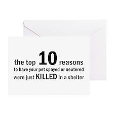 10 Reasons to Spay/Neuter Greeting Card