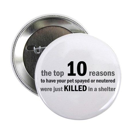 "10 Reasons to Spay/Neuter 2.25"" Button (10 pack)"