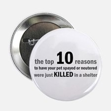 """10 Reasons to Spay/Neuter 2.25"""" Button (10 pack)"""