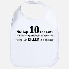 10 Reasons to Spay/Neuter Bib