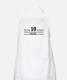 10 Reasons to Spay/Neuter BBQ Apron