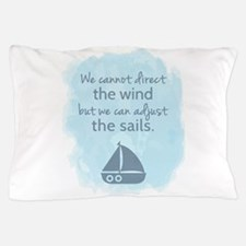 Nautical Sail boat Mentality Quote Pillow Case