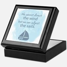 Nautical Sail boat Mentality Quote Keepsake Box