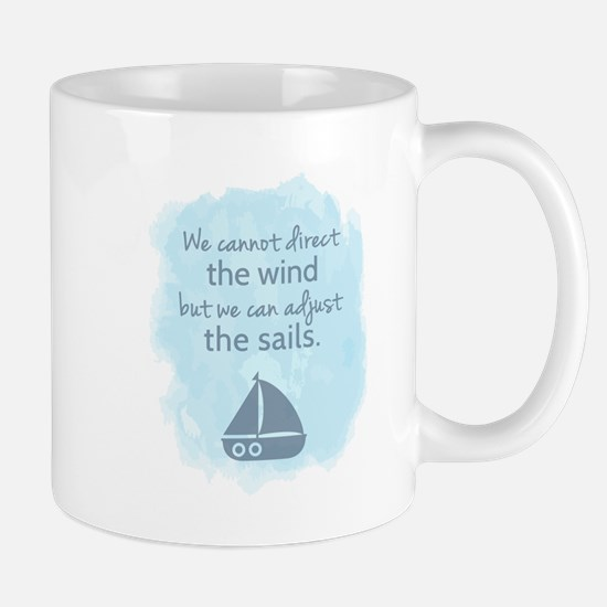 Nautical Sail boat Mentality Quote Mugs