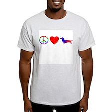 Peace, Love, Dachshund T-Shirt