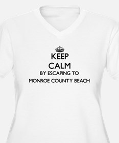 Keep calm by escaping to Monroe Plus Size T-Shirt