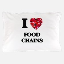 I love Food Chains Pillow Case