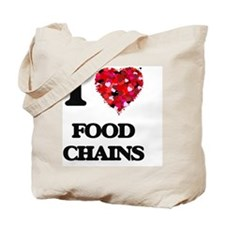 I love Food Chains Tote Bag