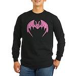 Pink Bat Long Sleeve Dark T-Shirt
