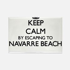 Keep calm by escaping to Navarre Beach Flo Magnets