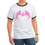 Pink Bat Ringer T