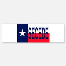 Texas Secceed Bumper Bumper Bumper Sticker