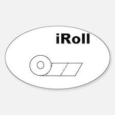 iRoll Oval Decal