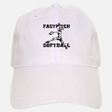 Distressed Fastpitch Baseball Baseball Cap