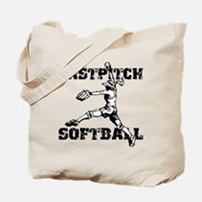 Distressed Fastpitch Tote Bag