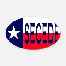 Texas Secceed Oval Car Magnet