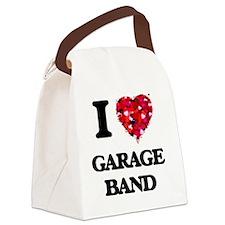 I love Garage Band Canvas Lunch Bag