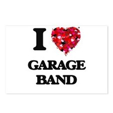 I love Garage Band Postcards (Package of 8)