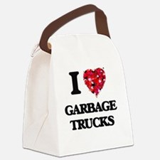 I love Garbage Trucks Canvas Lunch Bag