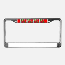 Football Soccer Red for France License Plate Frame
