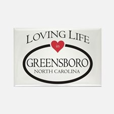 Loving Life in Greensboro, NC Magnets