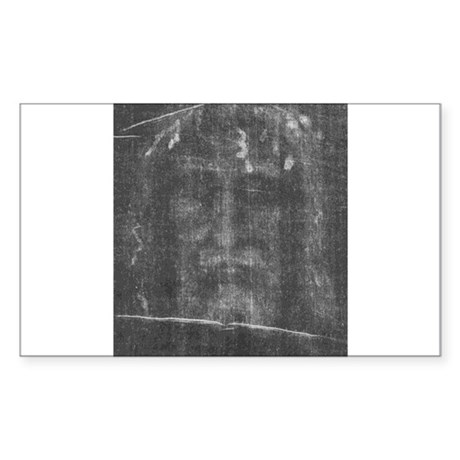 Shroud of Turin - Face of Jes Sticker (Rectangular